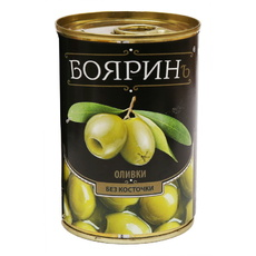 Оливки Бояринъ б/к ж/б Испания 300 мл (сух.вес 90 гр)