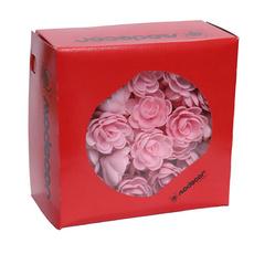Вафельные Розы малые слож. розовые