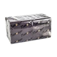 Салфетки черные 24 см x 24 см 1 слойные (400 листов) 1 уп