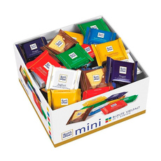 Набор Ritter sport из темного и молочного шоколада 7 вкусов 84 шт*16 гр