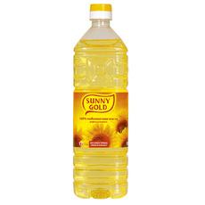 Масло подсолнечное рафинированное Sunny Gold 1 л