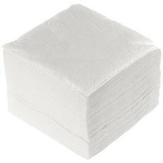 Салфетки белые 24 см x 24 см (100 шт) 1 уп