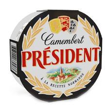 Сыр Камамбер (Camembert) мягкий с белой плесенью President 45% 125 гр
