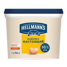 Майонез Настоящий Hellmann's 1л/944гр