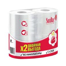 Туалетная бумага SunDay 2 слоя 4 шт/уп