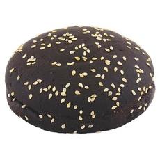Булочка для гамбургера черная с кунжутом Lantmannen Unibake d 125мм 89 гр