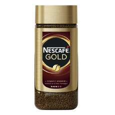 Кофе растворимый сублимированный Nescafe Gold стекло 95 гр