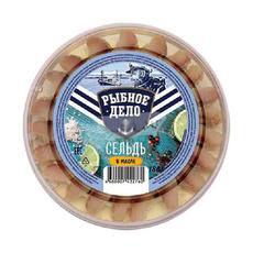 Сельдь филе кусочки в масле с паприкой Рыбное Дело 180 гр