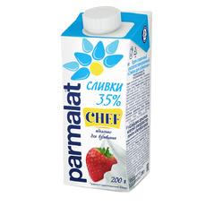 Сливки 35% ультрапастеризованные PARMALAT 0,2 л