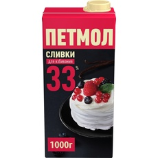 Сливки Петмол 33% стерилизованные Россия 1 л