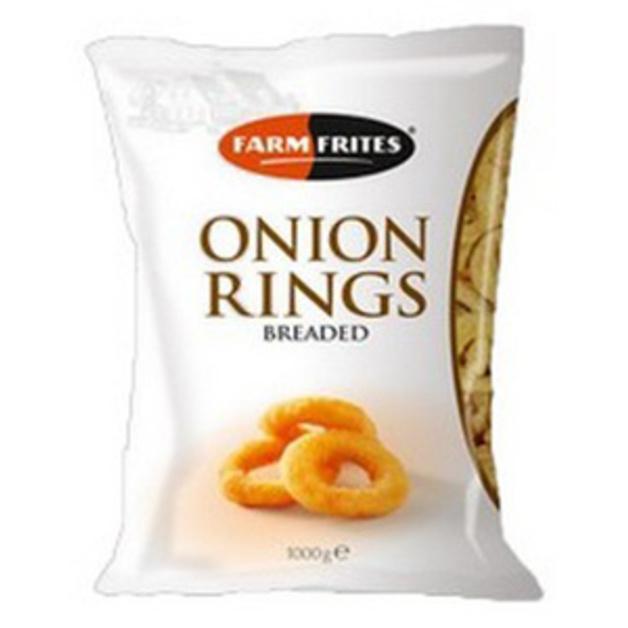 Луковые кольца в панировке рубленные Farm Frites 1 кг