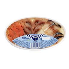 Ассорти рыбы филе кусочки в масле Три рыбки Рыбное Дело 180 гр