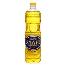 Масло подсолнечное рафинированное Злато  1 л