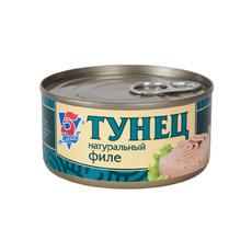 Тунец филе в масле 5 Морей 185 гр