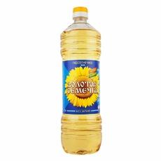 Масло подсолнечное рафинированное Золотая Семечка 1 л