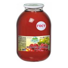 Нектар яблочно-вишневый осветленный ГОСТ 32104-2013 Широкий Карамыш 3 л