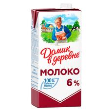 Молоко ультрапастеризованное Домик в деревне 6% 950 мл