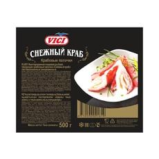Крабовые палочки Снежный краб (имитация из сурими) заморозка VICI 500 гр