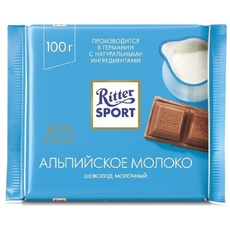 Шоколад Ritter Sport Молочный с альпийским молоком 100 гр