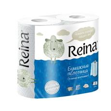 Бумажные полотенца Reina 2 слоя 2 шт/уп