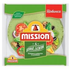 Тортилья пшеничная со шпинатом замороженная 12 шт (Ø 25 см) Mission Professional