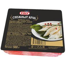 Крабовое мясо зам. Снежный краб (имитация из сурими) VICI 500 гр