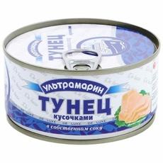 Тунец кусочками Ультрамарин в с/с 185 гр