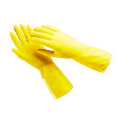 Перчатки резиновые желтые L (12 шт) 1 уп