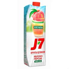 Сок J7 яблоко-персик 0,97 л