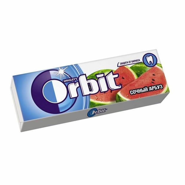 Жевательная резинка Orbit Сочный арбуз 13,6 гр