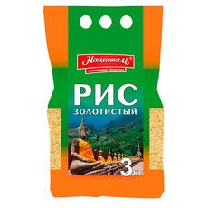 Рис золотистый Националь 3 кг