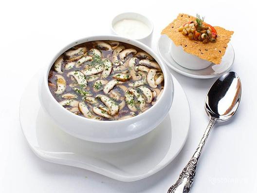 Суп из белых грибов и шиитаке
